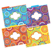 (2 Pk) Letter Size File Folders Moroccan Multi-design Set