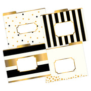 LETTER SIZE FILE FOLDERS GOLD