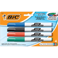 (6 Pk) Bic Great Erase Dry Erase Fine Point Markers 4 Per Pk - Student Spotlight