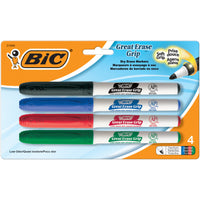 (6 Pk) Bic Great Erase Dry Erase Fine Pnt Markers 4 Per Pk Low Odor