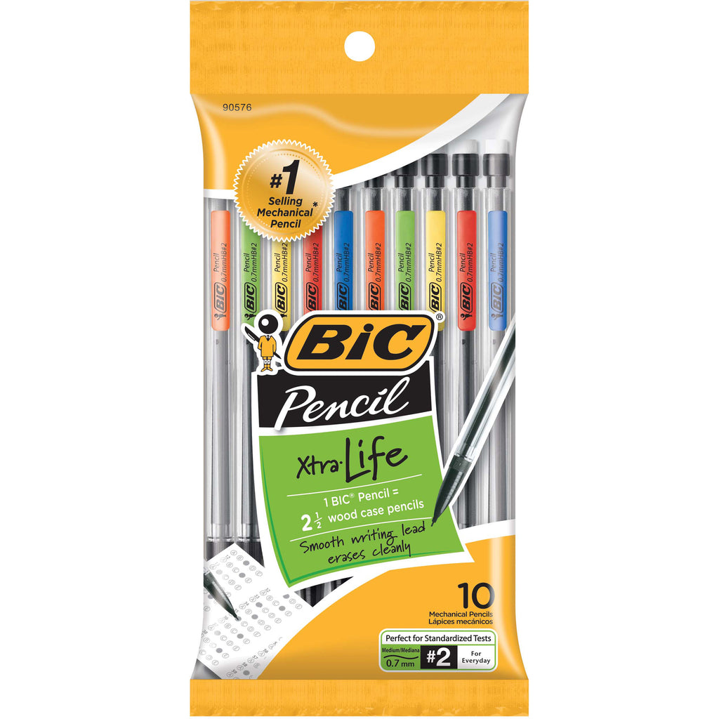 BIC MECHANICAL PENCILS 0.7MM 10PK
