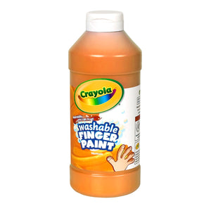 WASHABLE FINGERPAINT 16OZ ORANGE