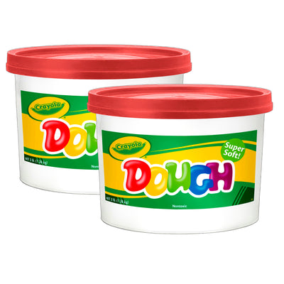 (2 Ea) Modeling Dough 3lb Bucket Red