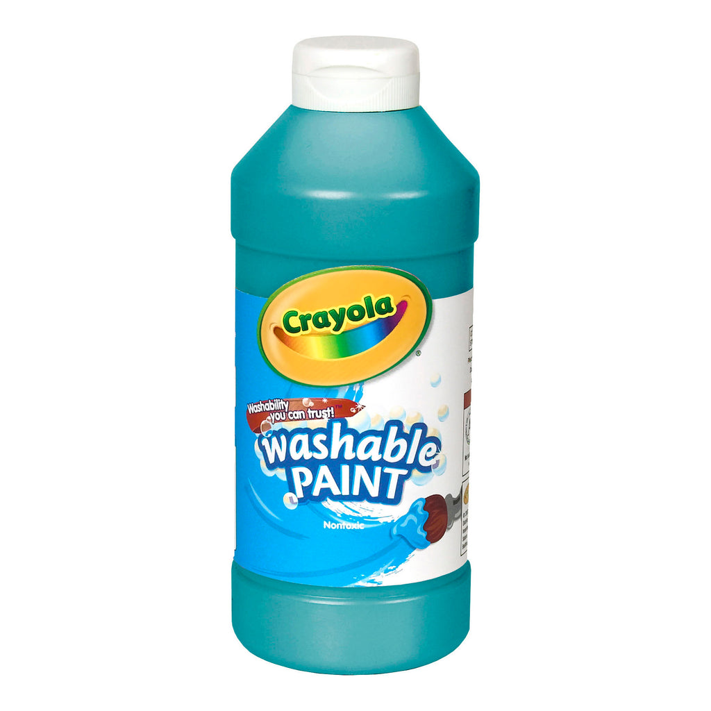 (6 Ea) Crayola Washable 16oz Turquoise Paint
