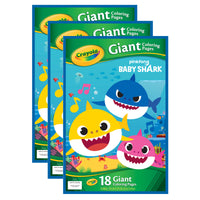 (3 Ea) Giant Coloring Pages Baby Shark