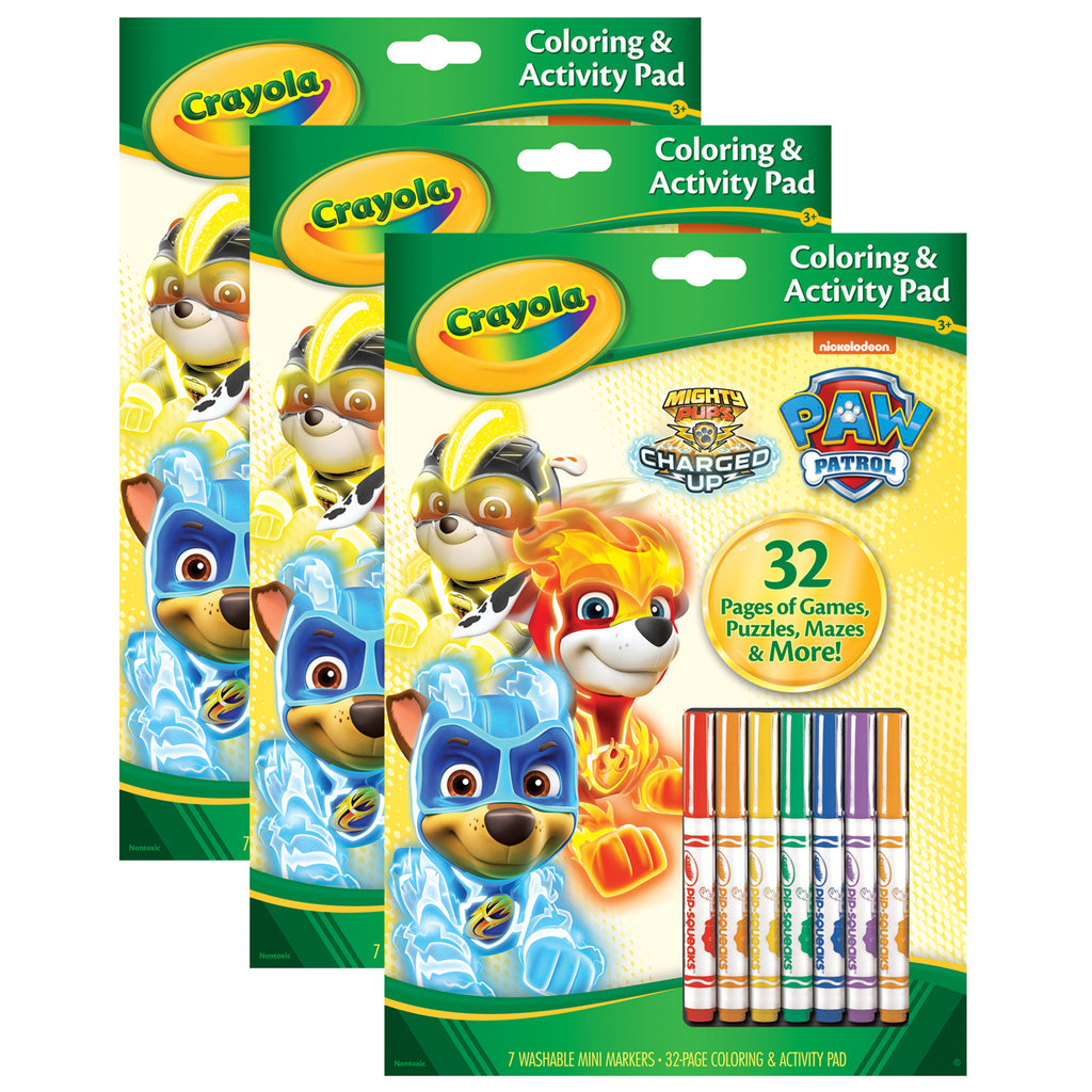 (3 Ea) Coloring & Activity Pad Paw Patrol W-markers
