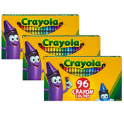 (3 Bx) Crayola 96ct Crayons Per Hinged Top Box