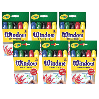 (6 Bx) Crayola Washable Window Crayons
