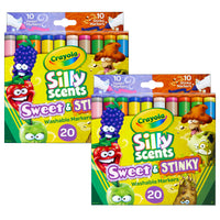 (2 Pk) Silly Scents Washable Markers 20pk Sweet & Stinky