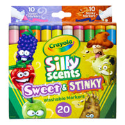 Silly Scents Washable Markers 20pk Sweet & Stinky