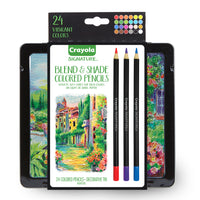 24ct Blend & Shade Colored Pencils W-tin