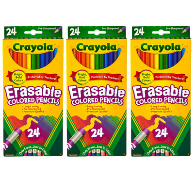 (3 Bx) 24ct Per Bx Erasable Colored Pencils