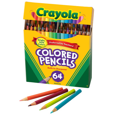 Crayola Colored Pencils 64 Count Half Length