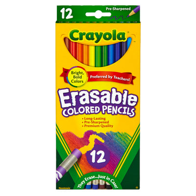 (6 Bx) Erasable Colored Pencils 12ct Per Bx