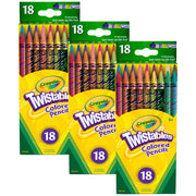 (3 Bx) Crayola Twistables 18ct Per Bx Colored Pencils
