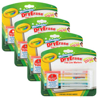 (4 Pk) Crayola Color Washable Dry Erase Markers 6 Per Pk - Student Spotlight