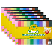 (6 Pk) Giant Construction Paper W- Stencils