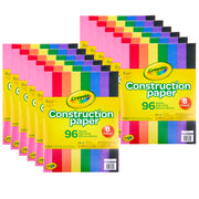 (12 Pk) Crayola 96 Ct Construction Paper