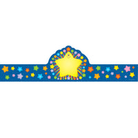 Rainbow Star Crowns 30-pk