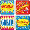 Stickers Positive Words 120-pk Acid & Lignin Free