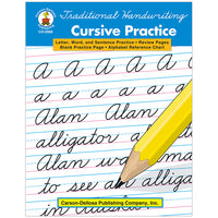(3 Ea) Traditional Handwriting Cursive Practice Resource Book