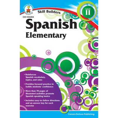 Skill Builders Spanish Level 2 Workbook Grade K-5