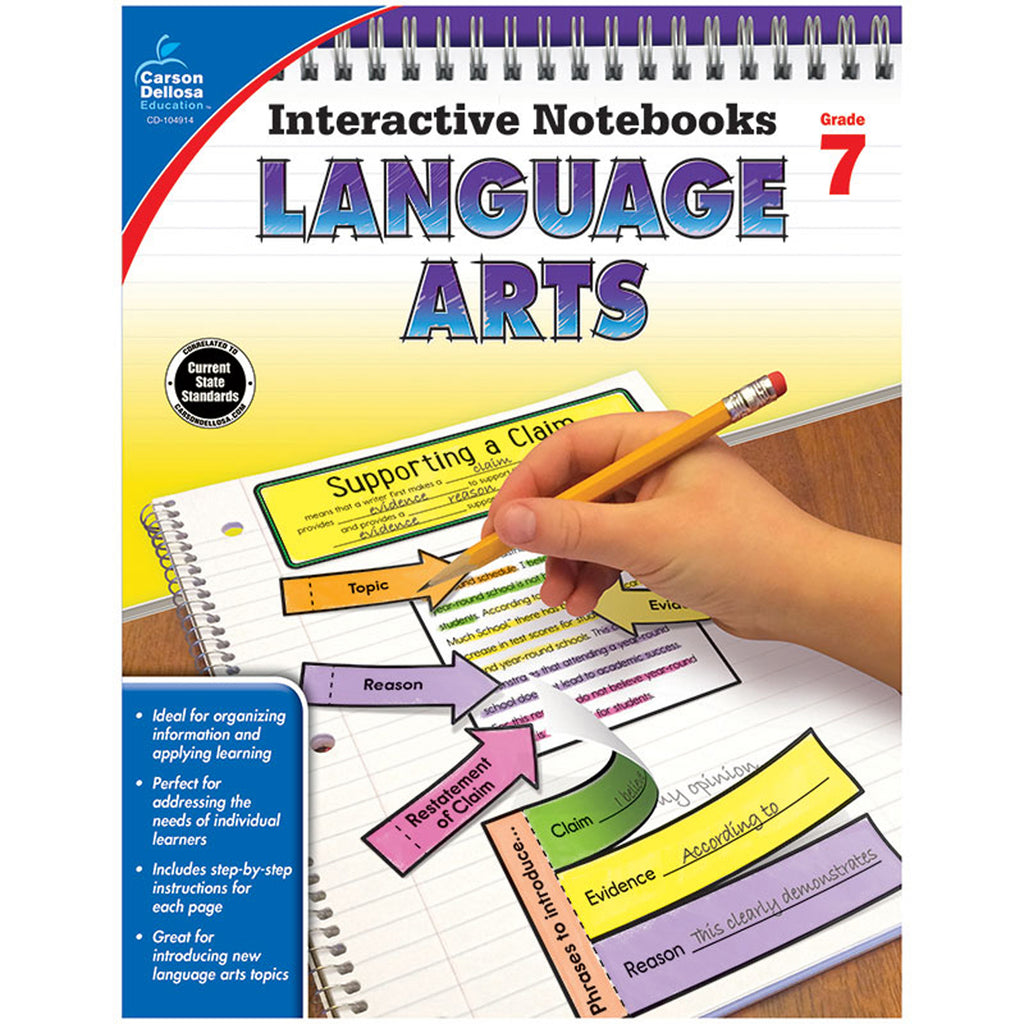 Interactive Notebooks Language Arts Grade 7 Resource Book