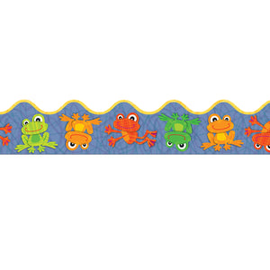 FUNKY FROGS SCALLOPED BORDER