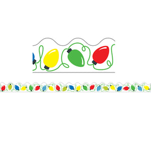 HOLIDAY LIGHTS SCALLOPED BORDER