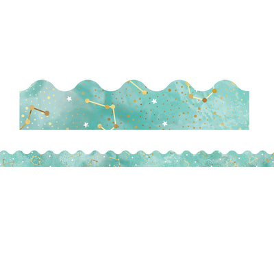 (6 Pk) Galaxy Constellations Scalloped Borders