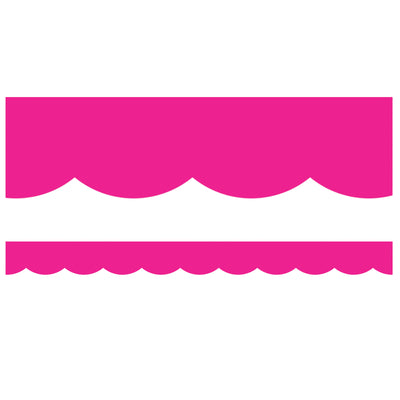 Tropical Hot Pink Scalloped Borders Simply Stylish