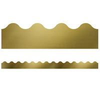 (6 Pk) Scalloped Border Gold Foil Sparkle + Shine