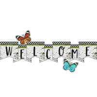 (2 St) Welcome Bulletin Board Set Woodland Whimsy
