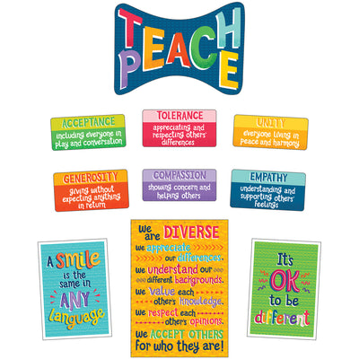 Teach Peace Bulletin Board Set One World