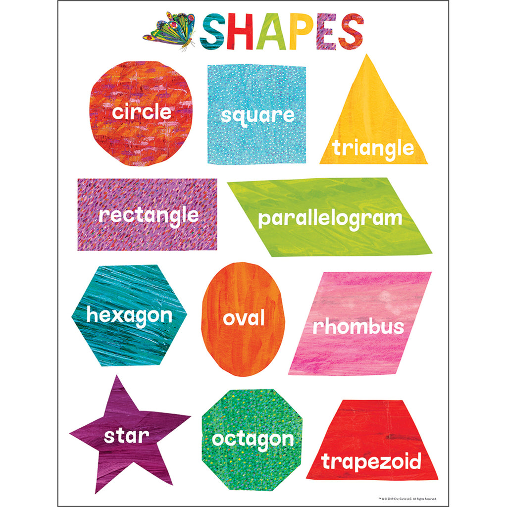 World Of Eric Carle Shapes Chart - Student Spotlight