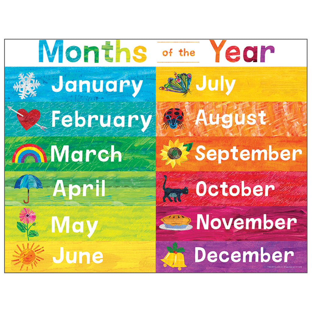 Eric Carle Months Of Year Chart