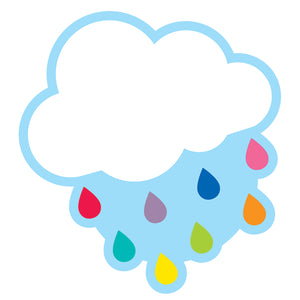 (3 Pk) Cloud With Raindrops Cut Outs Hello Sunshine