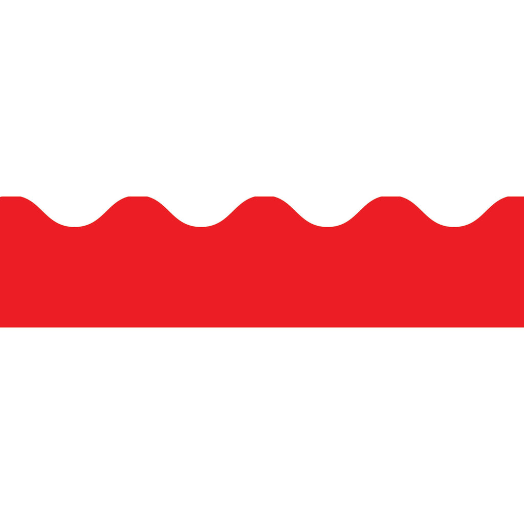 BORDER RED SCALLOPED
