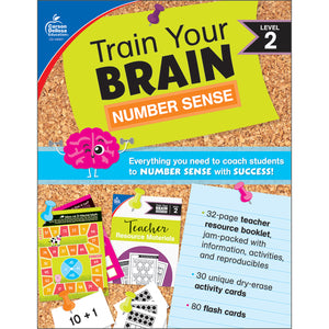 (2 Ea) Train Your Brain Numbr Sense Lvl 2