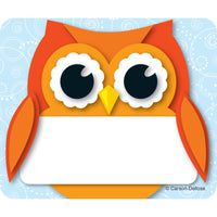 Colorful Owl Name Tags