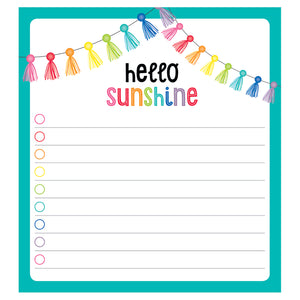 HELLO SUNSHINE NOTEPAD