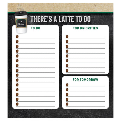 Theres A Latte To Do Notepad Industrial Cafe
