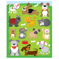 (12 Pk) Dogs & Cats Shape Stickers 78 Per Pk