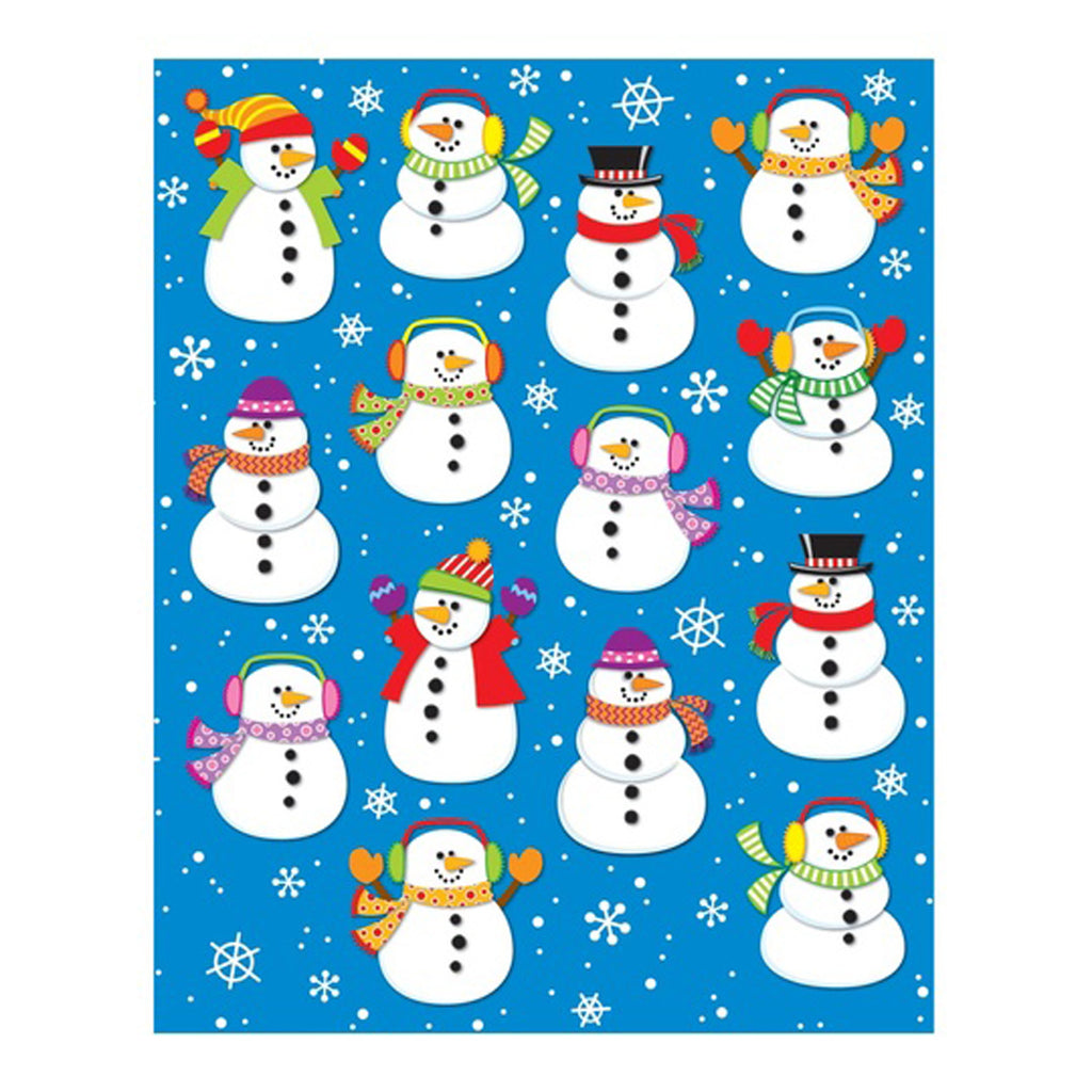 (12 Pk) Snowmen Shape Stickers 84 Per Pk