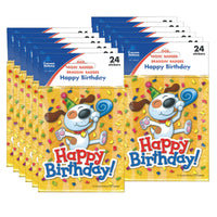 (12 Pk) Happy Birthday Stickers 24 Per Pk - Student Spotlight