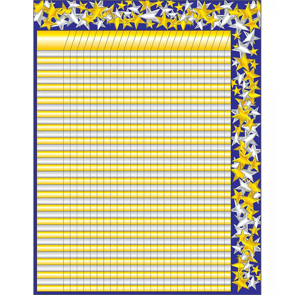 Incentive Chartlet Gold-silver Star 17 X 22 Incentive