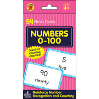 (12 Pk) Numbers 0-100 Flash Cards