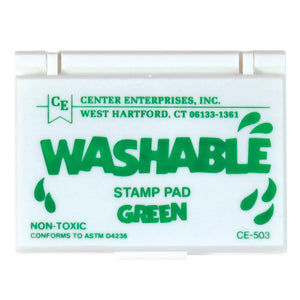 Stamp Pad Washable Green