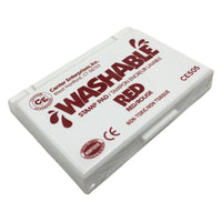 Stamp Pad Washable Red