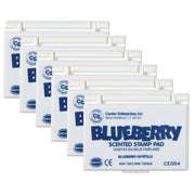 (6 Ea) Stamp Pad Scented Blueberry Blue